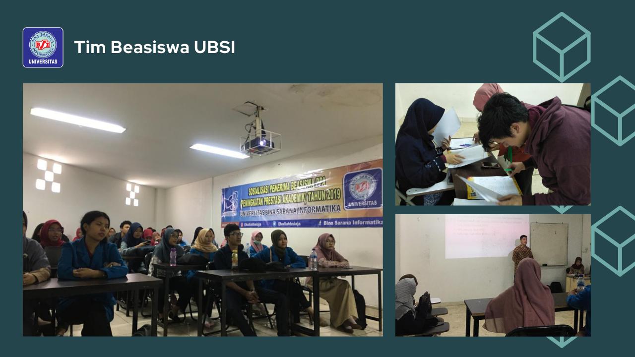 Sosialisasi Beasiswa Peningkatan Prestasi Akademik (PPA) Universitas Bina Sarana Informatika Tahun 2019