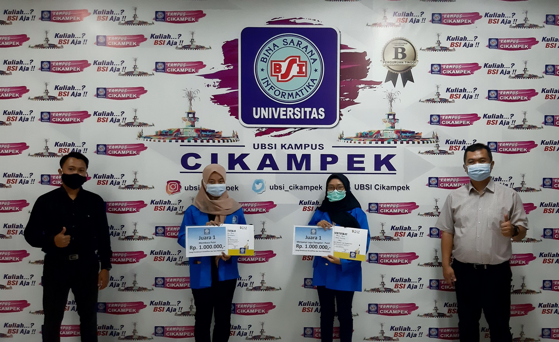 Dua Mahasiswi Prodi SIA UBSI PSDKU Karawang Kampus Cikampek Raih Juara 1 Pada Lomba Menuju PEKSIMINAS XV