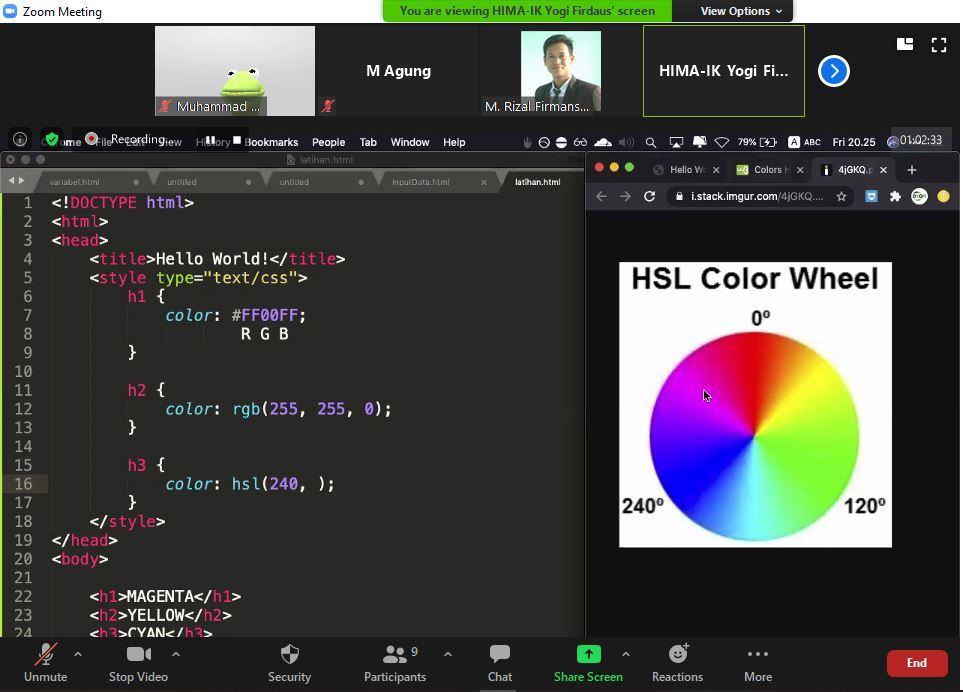 HIMAIK UBSI Sukabumi Gelar Workshop Pembuatan website, Bertajuk Tik Talk Sheries Web Programming #2