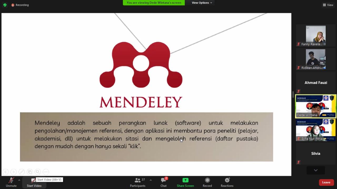 HIMASI UBSI Kampus Kota Sukabumi, Sukses Gelar Workshop Penulisan Skripsi