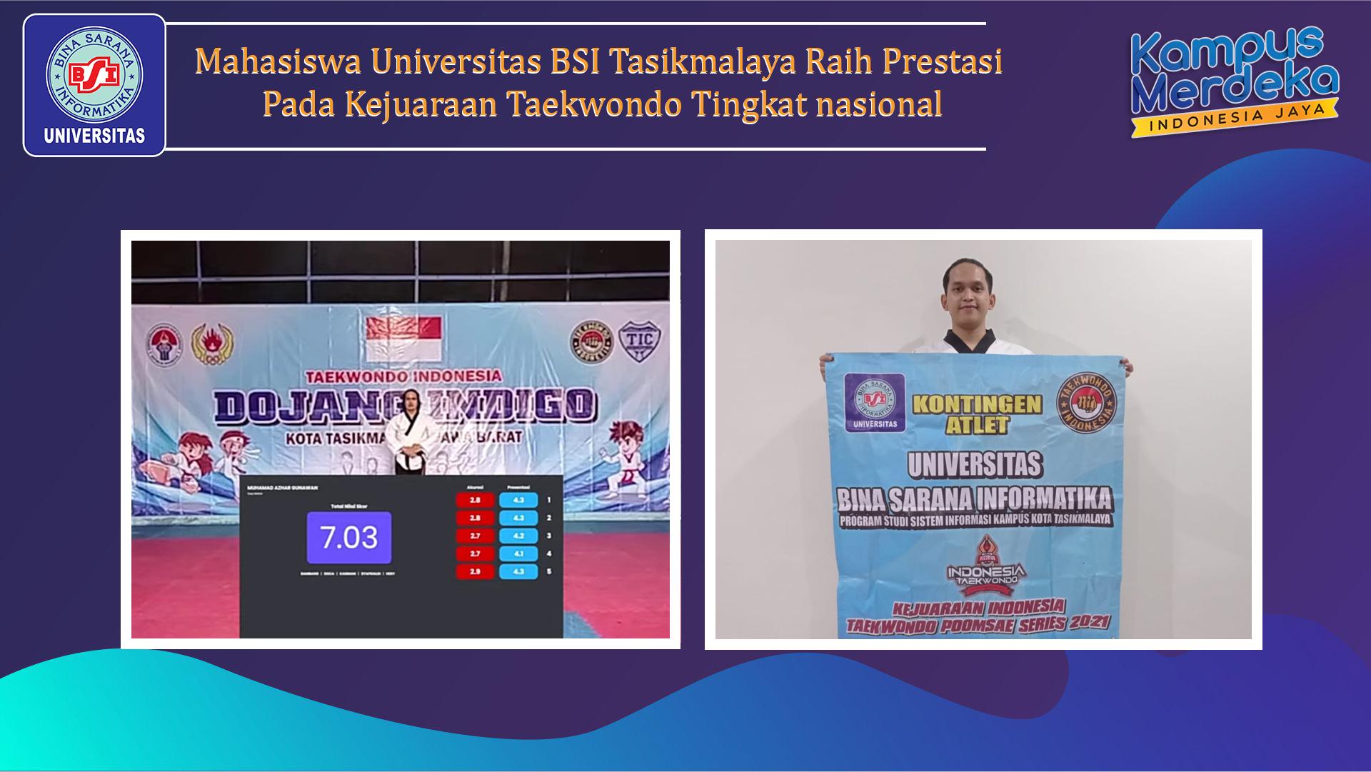 Mahasiswa Universitas BSI Tasikmalaya Raih Prestasi Pada Kejuaraan Taekwondo Tingkat nasional
