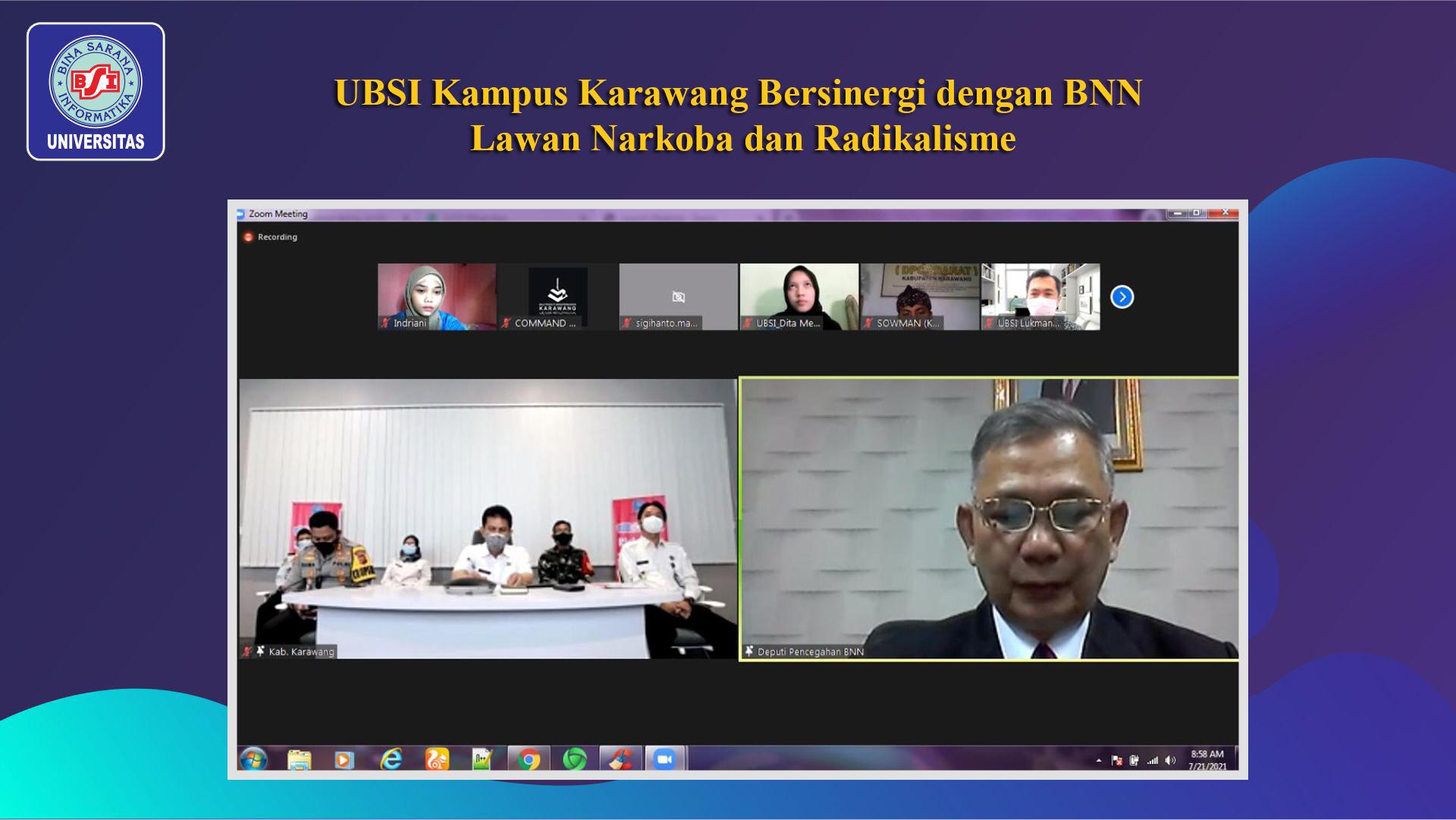 UBSI Kampus Karawang Bersinergi dengan BNN Lawan Narkoba dan Radikalisme