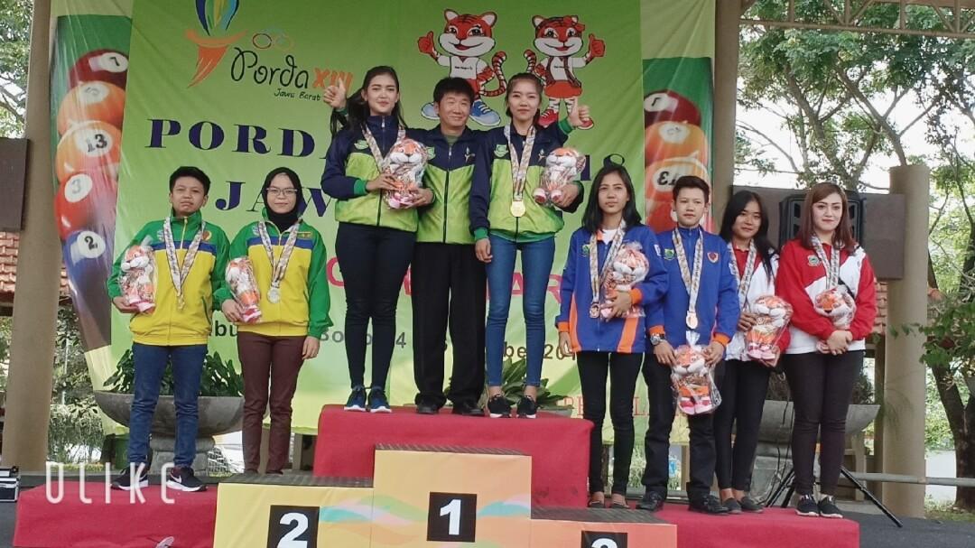 2018 - Porda Jawa Barat XIII Cabor Biliard Double Junior Putri