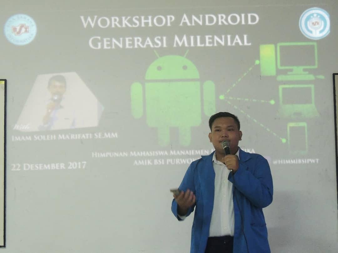 Workshop Android Generasi Milenial