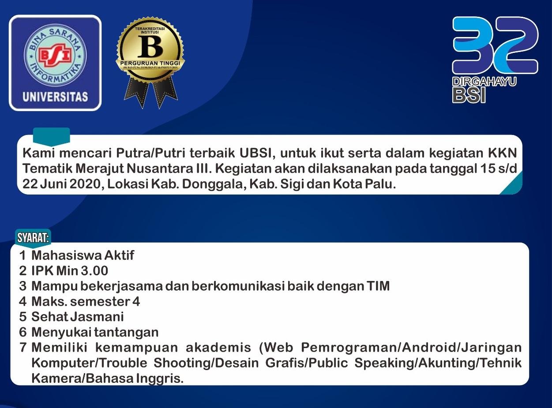 Persyaratan dan ketentuan peserta KKN Tematik Merajut Nusantara III