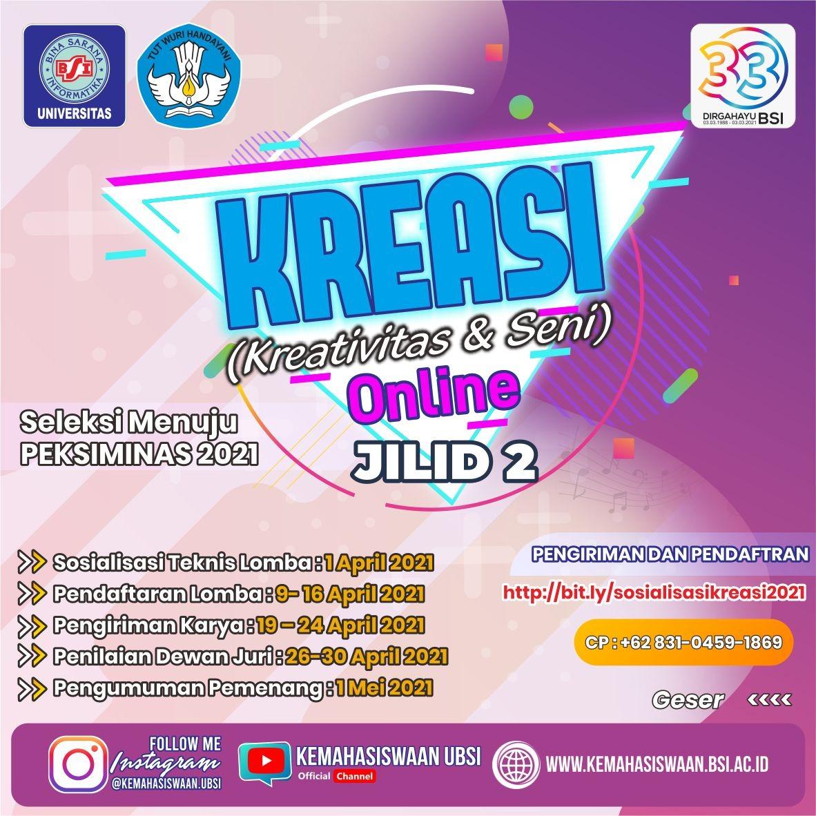Lomba KREASI (Kreativitas dan Seni) Online Jilid II