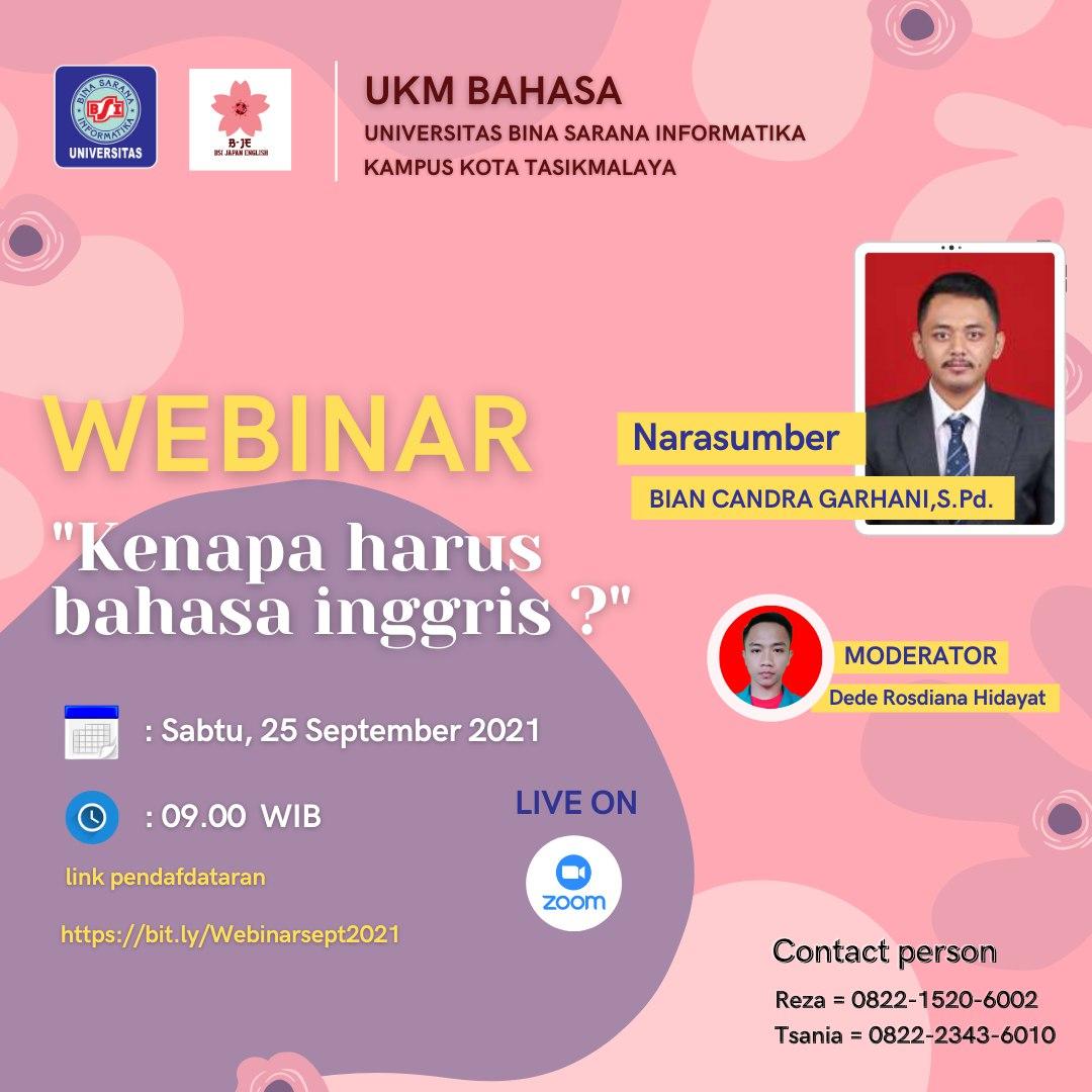 UKM Bahasa Webinar Learn About English Language