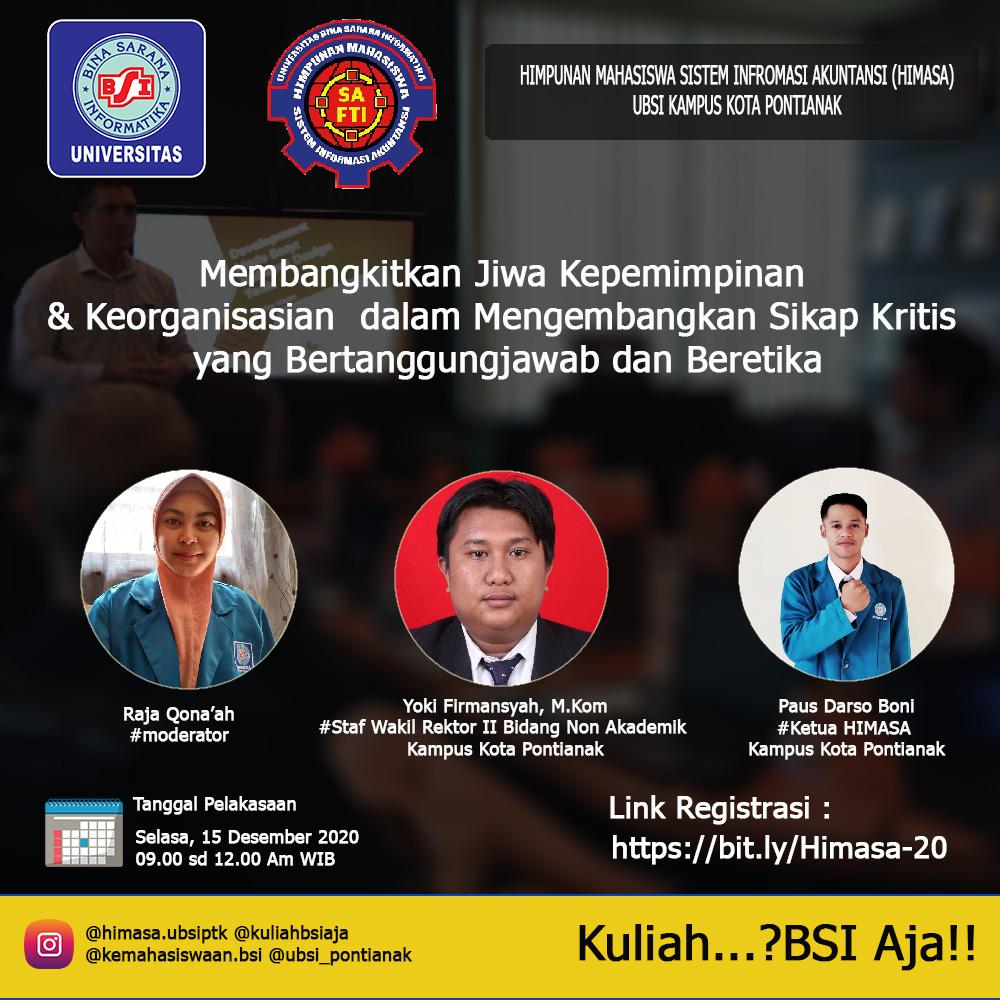 Webinar HIMASA UBSI Kampus Kota Pontianak