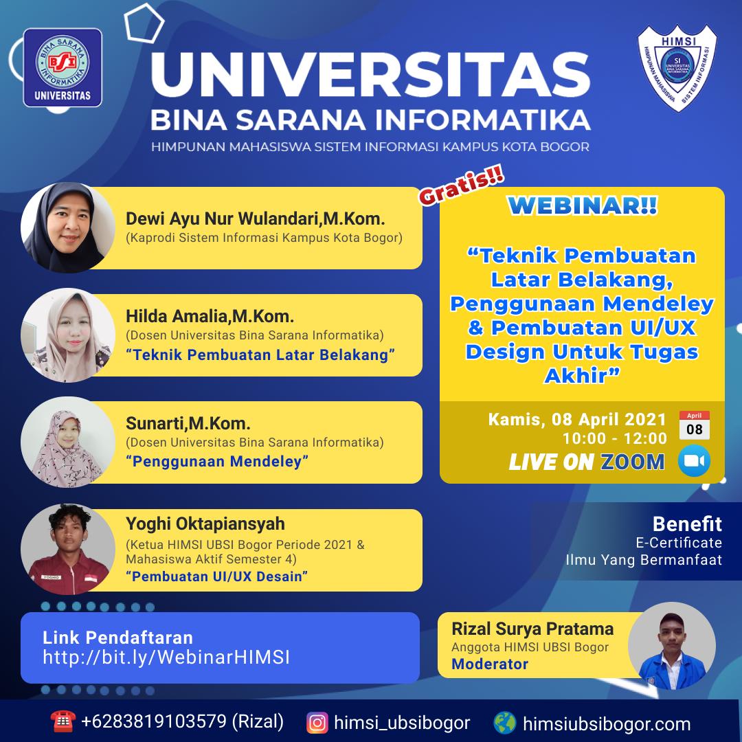 WEBINAR HIMSI UBSI Bogor