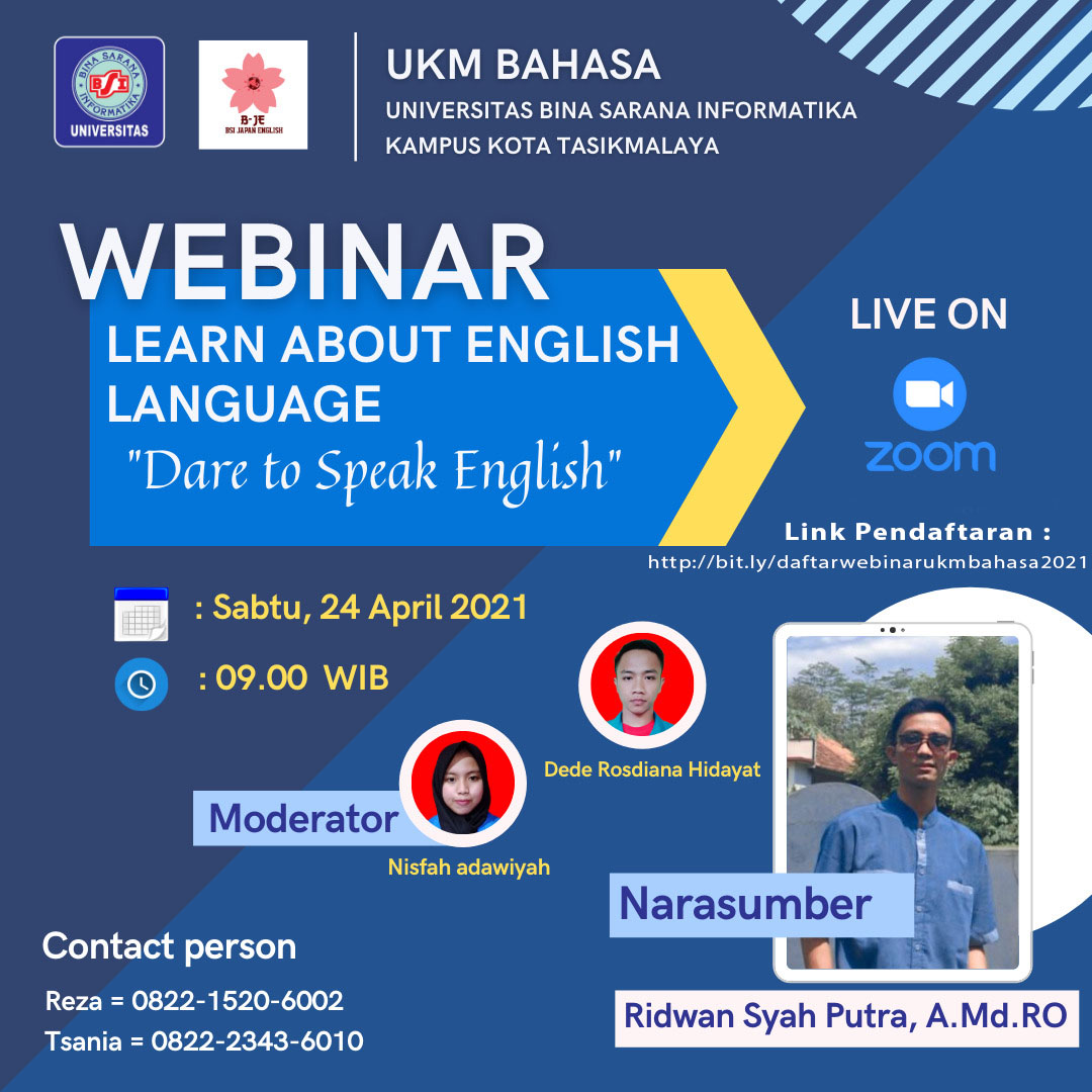WEBINAR LEARN ABOUT ENGLISH LANGUAGE